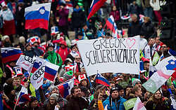 Fans of Gregor Schlierenzauer  (AUT) during Ski Flying Hill Men's Individual Competition at Day 4 of FIS Ski Jumping World Cup Final 2017, on March 26, 2017 in Planica, Slovenia. Photo by Vid Ponikvar / Sportida
