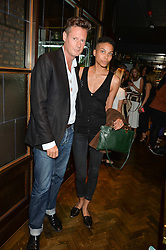 PERCY PARKER and OPHELIA AASA at a party to celebrate the launch of Sackville's Bar & Grill, 8a Sackville Street, London on 15th July 2015.