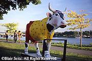 Cattle Theme Art, Riverfront Park,  Harrisburg, PA, City Center