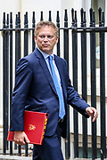 Transport Secretary Grant Shapps arrives in Downing Street in London, Wednesday, Sept. 2, 2020. Britain's parliament returned Tuesday after the summer break. (VXP Photo/ Vudi Xhymshiti)