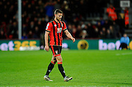 Sending off.  AFC Bournemouth defender Simon Francis walks back to the dressing room after being shown a red card during the Premier League match between Bournemouth and Arsenal at the Vitality Stadium, Bournemouth, England on 3 January 2017. Photo by Graham Hunt.
