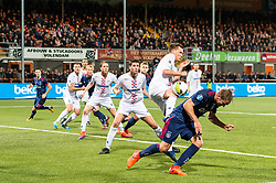 (L-R) Maarten Woudenberg od ASV De Dijk, Siem de Jong of Ajax during the Second Round Dutch Cup match between De Dijk and Ajax Amsterdam at Kras stadium on October 25, 2017 in Volendam, The Netherlands