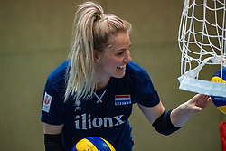 14-05-2019 NED: Training national volleyball team Women, Arnhem<br /> Dutch volleyball team women starts the training yesterday. There is a tough program ahead this summer. They starts with group matches of the VNL, then OKT in Catania in Italy, Worldcup in Japan and the European Championship played in Hungary / Kirsten Knip #1 of Netherlands