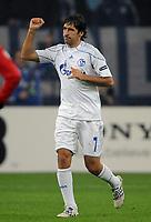 Fotball<br /> Tyskland<br /> 20.10.2010<br /> Foto: Witters/Digitalsport<br /> NORWAY ONLY<br /> <br /> Jubel 1:0 Raul (Schalke)<br /> Champions League, Gruppenphase, FC Schalke 04 - Hapoel Tel Aviv