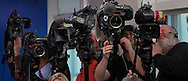Video cameras focus on reporters at the daily press briefing by press secretary Sean Spicer in the White House press briefing room on February 23,2017<br /> <br /> Photo by Dennis Brack