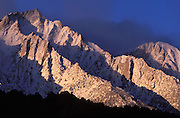 Early morning light on Lone Pine Peak, Lone Pine, California