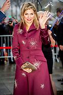 Koningin Maxima is dinsdagmiddag 14 november in cultuurcentrum De Oosterpoort in Groningen aanwezig