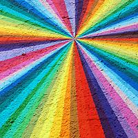 rainbow energy mural