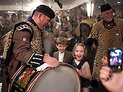 PIPERS WITH CHILDREN, The Royal Caledonian Ball 2010. Grosvenor House. Park Lane. London. 30 April 2010 *** Local Caption *** -DO NOT ARCHIVE-© Copyright Photograph by Dafydd Jones. 248 Clapham Rd. London SW9 0PZ. Tel 0207 820 0771. www.dafjones.com.<br /> PIPERS WITH CHILDREN, The Royal Caledonian Ball 2010. Grosvenor House. Park Lane. London. 30 April 2010
