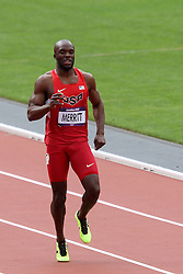 Lashawn Merritt of The USA pulls up in the Men's 400m heats during day 2 of athletics held at the Olympic Stadium in Olympic Park in London as part of the London 2012 Olympics on the 3rd August 2012..Photo by Ron Gaunt/SPORTZPICS