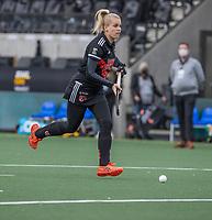 AMSTELVEEN - Ilse Kappelle (Adam)  tijdens de halve finale wedstrijd dames EURO HOCKEY LEAGUE (EHL),  Amsterdam-HC Den Bosch. (1-1) Den Bosch wint shoot outs en plaats zich voor de finale.  COPYRIGHT  KOEN SUYK