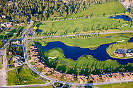 Aerial view of Eagle Bend resort in Bigfork Montana