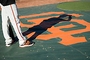San Francisco Giants left fielder Gorkys Hernandez (66) warms up during batting practice before the San Francisco Giants host the Pittsburgh Pirates at AT&T Park in San Francisco, California, on July 25, 2017. (Stan Olszewski/Special to S.F. Examiner)