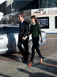The Prime Minister David Cameron and his Wife Samantha arrive for The Conservative Party Conference at ICC, Birmingham, on the first day of the Party Conference, Sunday October 7 2012. Photograph by Elliott Franks / i-Images