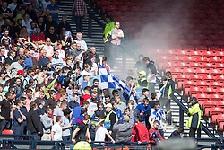Falkirk fans. <br /> Hibernian 0 v 1 Falkirk, William Hill Scottish Cup semi-final, played 18/4/2015 at Hamden Park, Glasgow.