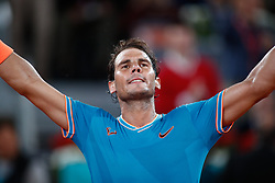 May 9, 2019 - Madrid, MADRID, SPAIN - Rafael Nadal (ESP) during the Mutua Madrid Open 2019 (ATP Masters 1000 and WTA Premier) tenis tournament at Caja Magica in Madrid, Spain, on May 09, 2019. (Credit Image: © AFP7 via ZUMA Wire)