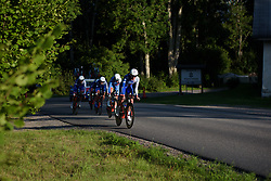 Aude Biannic leads FDJ at the Crescent Vargarda - a 42.5 km team time trial, starting and finishing in Vargarda on August 11, 2017, in Vastra Gotaland, Sweden. (Photo by Sean Robinson/Velofocus.com)