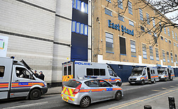 Police presence outside White Hart Lane prior to the match
