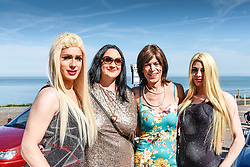 Drag queens preparing to participate in the Kent Pride celebrations in the seaside town of Margate.