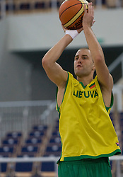 Tomas Delininkaitis of Lithuania during the practice session, on September 11, 2009 in Arena Lodz, Hala Sportowa, Lodz, Poland.  (Photo by Vid Ponikvar / Sportida)