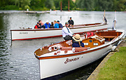 """Henley on Thames, United Kingdom. 2016 Henley Masters' Regatta. Henley Reach. England. on Saturday  09/07/2016   [Mandatory Credit/ Peter SPURRIER/Intersport Images]<br /> <br /> Umpires Launch, """"Bosporos """" [Oxford University BC Boat]  Rowing, Henley Reach, Henley Masters' Regatta.<br /> <br /> General View, walking through the Tented Henley Festival site to Henley Reach, venue, for the 2016 Henley Masters Regatta."""