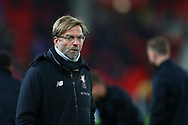 Liverpool Manager Jurgen Klopp looks on.  Premier league match, Stoke City v Liverpool at the Bet365 Stadium in Stoke on Trent, Staffs on Wednesday 29th November 2017.<br /> pic by Chris Stading, Andrew Orchard sports photography.