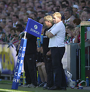 Leicester, 13th September 2003, Zurich Premiership Rugby,  Welford Road, <br /> [Mandatory Credit; Peter Spurrier/Intersport Images]<br /> Zurich Premiership Rugby - Leicester Tigers v London Irish.<br /> Tigers coach/manager Dean Richards