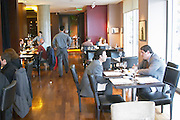 Lunch guests in the restaurant. The Restaurant Red at the Hotel Madero Sofitel in Puerto Madero, Buenos Aires Argentina, South America