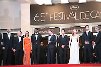 The cast of Madagascar 3: Europe's Most Wanted on the red steps at the 65th Cannes Film Festival. On Friday 18th May 2012 in Cannes Film Festival, France.