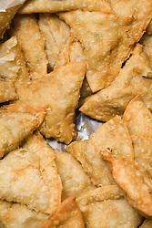Pile of Samosas at the Nottingham Islamia school Eid Fair,