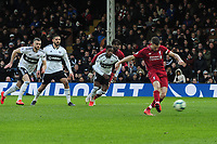Football - 2018 / 2019 Premier League - Fulham vs. Liverpool<br /> <br /> James Milner of Liverpool scores the winning goal from the penalty Spot, at Craven Cottage<br /> <br /> COLORSPORT/ANDREW COWIE