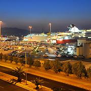 Passanger sea port in Heraklion with speedy ferries to the islands. Crete, Greece