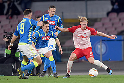 March 7, 2019 - Naples, Naples, Italy - Xaver Schlager of RB Salzburg during the UEFA Europa League match between SSC Napoli and RB Salzburg at Stadio San Paolo Naples Italy on 7 March 2019. (Credit Image: © Franco Romano/NurPhoto via ZUMA Press)