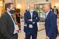 MATTEO MARANI GIUSEPPE MAROTTA E PIERO AUSILIO<br /> CALCIOMERCATO 2020 RIMINI<br /> RIMINI 01-09-2020<br /> FOTO FILIPPO RUBIN / MASTER GROUP SPORT