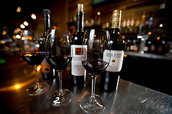 The Zinfandel flight at Pour Wine Bar and Bistro, in the Montclair district of Oakland, Calif., Wednesday, Dec. 23, 2015. (Photo by D. Ross Cameron)
