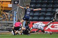 Rugby Union - 2019 / 2020 Gallagher Premiership - Worcester Warriors vs Bristol Bears<br /> <br /> Worcester Warriors' Anton Bresler denied by Bristol Bears' Kyle Sinckler and Luke Morahan at Sixways.<br /> <br /> COLORSPORT/ASHLEY WESTERN