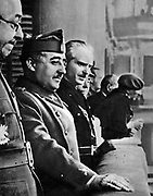 Francisco Franco (4 December 1892  – 20 November 1975), Spanish General and dictator, head of state of Spain from October 1936 (whole country from 1939 on), and de facto regent of the nominally restored Kingdom of Spain from 1947 until his death in November