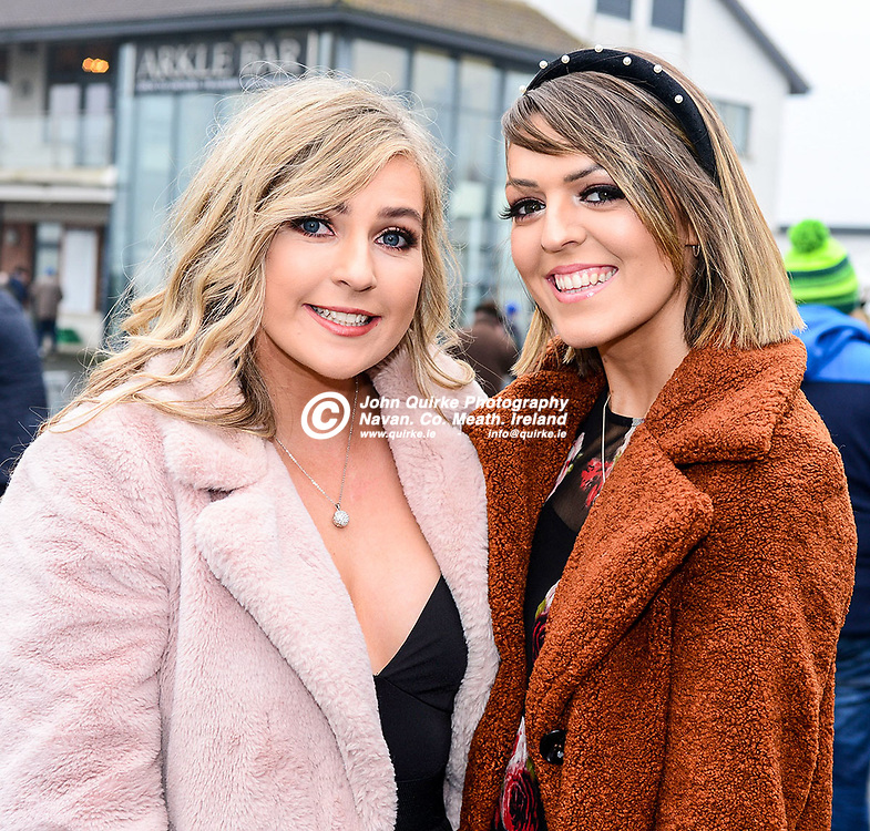 Pictured   at Navan races 'Ladbrokes Troytown Chase & Ladies Day' were Jacquiline Tobin (left) and CLIODHNA Brady, Kells.<br /> <br /> Photo: GERRY SHANAHAN-WWW.QUIRKE.IE<br /> <br /> 24-11-2019