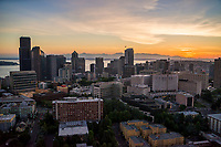 First Hill featuring Swedish Medical Center (right) & Downtown Seattle