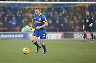 AFC Wimbledon defender Barry Fuller (2) clearing the ball during the EFL Sky Bet League 1 match between AFC Wimbledon and Charlton Athletic at the Cherry Red Records Stadium, Kingston, England on 11 February 2017. Photo by Matthew Redman.