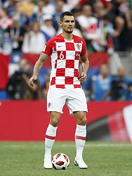 Dejan Lovren of Croatia during the 2018 FIFA World Cup Russia Final match between France and Croatia at the Luzhniki Stadium on July 15, 2018 in Moscow, Russia