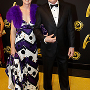 NLD/Amsterdam/20121019- Televiziergala 2012, astronaut Andre Kuipers en partner Helen Conijn