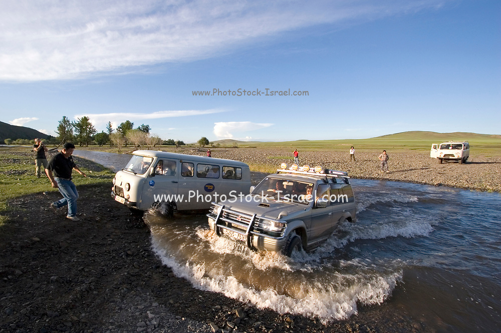 crossing a water obsticle, Shiveet Manhan, Mongolia