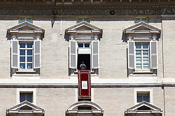 Aug 13, 2017 - Vatican City State (Holy See) - POPE FRANCIS delivers Angelus Prayer from the window of the Apostolic building  at the Vatican  (Credit Image: © Evandro Inetti via ZUMA Wire)