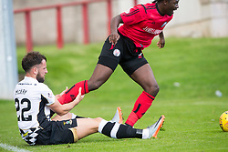 Inverness Caledonian Thistle's Brad McKay holds Brechin City's Isaac Layne. Half time : Brechin City 0 v 2 Inverness Caledonian Thistle, Scottish Championship game played 26/8/2017 at Brechin City's home ground Glebe Park.