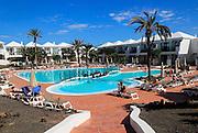Swimming pool at H10 Ocean Suites hotel in Corralejo, Fuerteventura, Canary Islands, Spain