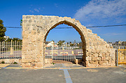 Remains of the White Mosque of Ramla, Israel destroyed by an earthquake in the 11th century