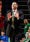 CHARLOTTESVILLE, VA- NOVEMBER 26:  Head coach Brian Wardle of the Green Bay Phoenix reacts to a play during the game on November 26, 2011 at the John Paul Jones Arena in Charlottesville, Virginia. Virginia defeated Green Bay 68-42. (Photo by Andrew Shurtleff/Getty Images) *** Local Caption *** Brian Wardle