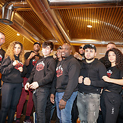 NLD/Almere/20190117 - Stare down van Boxing Influencers, alle boksers