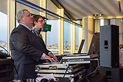 Deejays Harold and Ben Mahan of Harold Mahan Productions mix the music as Fairdale High School holds it's prom at the Muhammad Ali Center on Saturday, May 18.